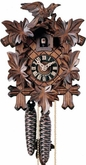 Traditional Cuckoo Clocks Leaves & Birds 1 Day Movement