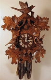 "CUCKOO CLOCK 15"" LEAVES & BIRDS  8 DAY MOVEMENT"
