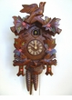 1 DAY CUCKOO CLOCK LEAVES & BIRDS with NEST HAND PAINTED FLOWERS