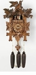 "GERMAN CUCKOO CLOCK:  16"" LEAVES & BIRDS  8 DAY MOVEMENT"