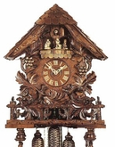 "MUSICAL CUCKOO CLOCKS 20"" LEAVES,VINES,GRAPES  8 DAY MOVEMENT"