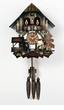 "CHALET CUCKOO CLOCK:  12"" MAN CHOPS WOOD  1 DAY MOVEMENT"