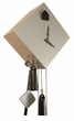 1 Day Movement Cuckoo Clock Silver and Black Modern Cube Design