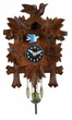 Quartz Novelty Clock  Five Leaves & One Bird  with Moving Blue Bird
