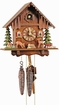 MOVING DEER FOREST SCENE CHALET CUCKOO CLOCK 1 DAY MOVEMENT