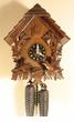 "CHALET CUCKOO CLOCKS:  13"" MOVING FEEDING BIRDS  8 DAY MOVEMENT"
