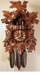 "CUCKOO CLOCK 17"" LEAF & BIRD w/ DANCERS  8 DAY MOVEMENT"