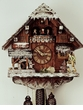 "CHALET CUCKOO CLOCKS:  16"" WINTER SCENE  8 DAY MOVEMENT"