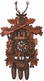 "BLACK FOREST CUCKOO CLOCKS  24"" MUSICAL HUNTER  8 DAY MOVEMENT"