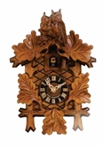 Owls Cuckoo Clock 1 Day Carved German Made