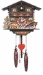 "CHALET CUCKOO CLOCK:  8"" GRAZING DEER  MUSICAL & QUARTZ"