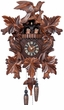 QUARTZ BATTERY OPERATED LEAVES BIRDS DANCERS MUSICAL CUCKOO CLOCK