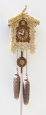 Real Bone  Intricate Detail 8 Day Cuckoo Clock