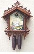River Scene Hand Painted  Chalet Cuckoo Clock Eight (8) Day Movement