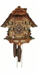 Chalet Musical Cuckoo Clock Rocking Chair Girl Feeding Geese