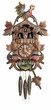 "CUCKOO CLOCKS:  15"" ROOSTER w/ FEEDING CHICKENS  1 DAY MOVEMENT  Animated & Musical"