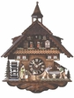 "CHALET CUCKOO CLOCKS:  17"" WOOD SAWING MEN  8 DAY MOVEMENT"