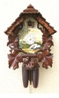 "CHALET CUCKOO CLOCKS:  15"" SCHONE AUSSICHT - BAHNHAUSLE  8 DAY MOVEMENT"