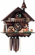 "CHALET CUCKOO CLOCK:  11"" BLACK FOREST WOMAN  1 DAY MOVEMENT"
