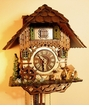 Deers In Forest Cottage  Cuckoo Clock with Chimneysweep