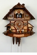 Musical Cuckoo Chalet Clock Beer Tapper and Drinkers