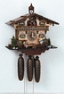 MUSICAL CUCKOO CLOCK CHALET TEETER TOTTER CHILDREN 8 DAY MOVEMENT