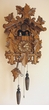 "QUARTZ CUCKOO CLOCKS 17"" THICKET OF LEAVES w/ DANCERS"