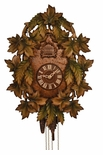 Beautiful Carved Tint Leaves 8 Day Cuckoo Clock