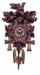 Traditional Quartz  German Cuckoo Clock  with Five Hand-carved  Maple Leaves and One Bird