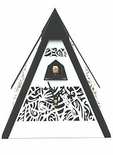 Musical Mantel  Quartz Cuckoo Clocks  Unique Filigree Pyramid