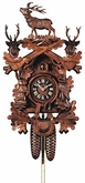 "BLACK FOREST CUCKOO CLOCK UNIQUE DESIGN   20"" HUNTER  8 DAY MOVEMENT"