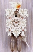 "WHITE FINISH CUCKOO CLOCKS:  12"" LEAF & BIRD  8 DAY MOVEMENT"