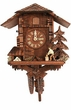 "UNIQUE CHALET CUCKOO CLOCK:  11"" WOOD CHOPPER  1 DAY MOVEMENT"
