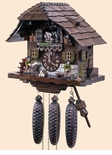 Wood Choppers  Black Forest House Chalet Cuckoo Clock