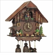 MUSICAL CUCKOO CLOCK WOOD CHOPPER &<br>BEER DRINKER 8 DAY MOVEMENT