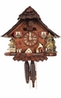 "UNIQUE CHALET CUCKOO CLOCK:  10"" WOOD CUTTER 1 DAY MOVEMENT"