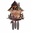Eight Day (8) Musical  Cuckoo Clock Cottage Woodchopper and Waterwheel