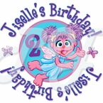 24 Abby Cadabby Personalized birthday Stickers