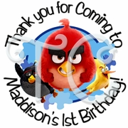 24 Angry Birds Movie Personalized Stickers