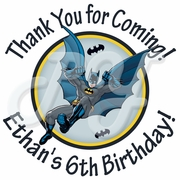 24  Batman Personalized Birthday Stickers
