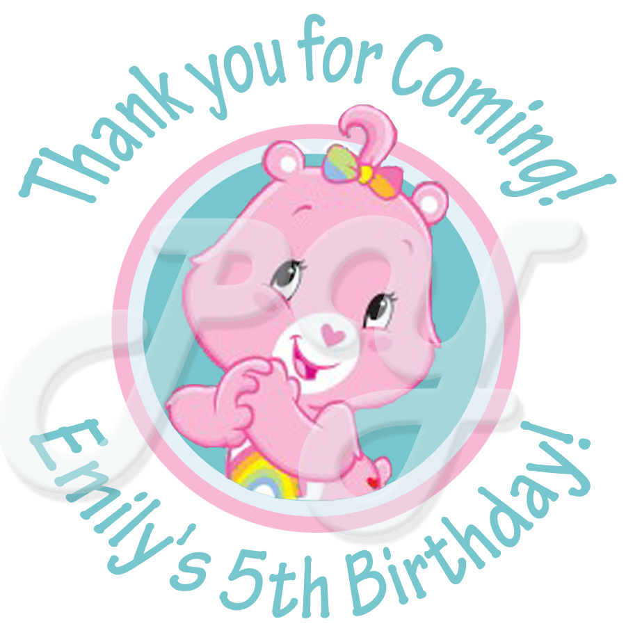 Care bears personalized stickers 24 bears personalized stickers monicamarmolfo Choice Image