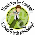 24 Ben 10 Personalized Stickers