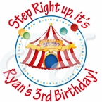 24 Big Top Circus Personalized stickers