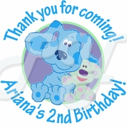 24 Blue's Room personalized birthday stickers
