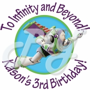 24 Buzz Lightyear Personalized Birthday Stickers