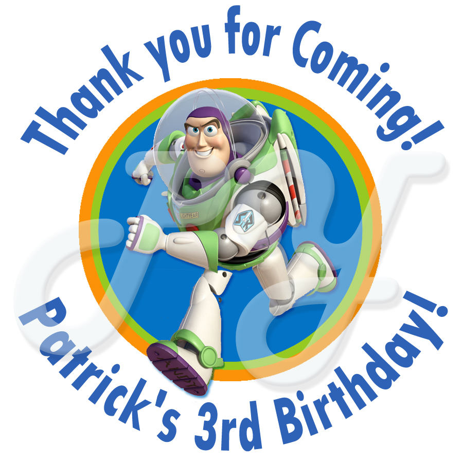 Buzz Lightyear Personalized Birthday Stickers – Buzz Lightyear Birthday Card
