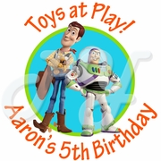 24 Buzz & Woody Personalized Birthday Stickers