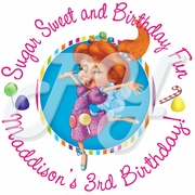 24 Candyland Lolly Personalized Birthday Stickers