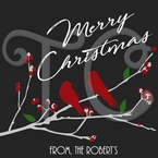 24 Christmas Cardinal personalized Stickers