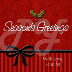 24 Christmas personalized holiday stickers